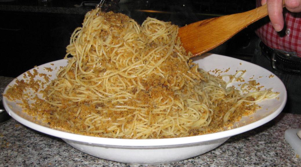 Pasta Ascuitta Angel Hair Pasta With Crispy Breadcrumbs Villa