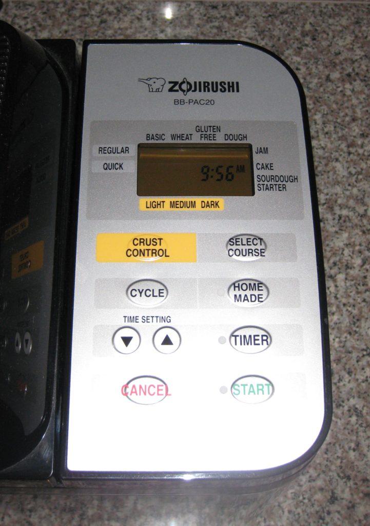 zojirushi bread machine bb pac20